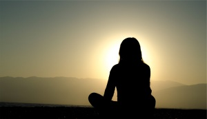 meditative woman